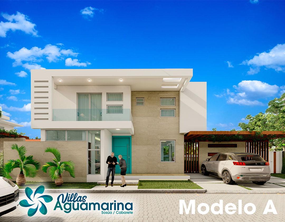 Villas Aguamarina Modelo A | Villa Aguamarina Modelo A en Venta en Cabarete y Sosúa | #1